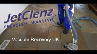 Jetclenz Pressure Washing - Vacuum Recovery UK - School Hall Entrance - Indoor Stone Floor Clean