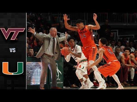 Virginia Tech vs. Miami Basketball Highlights (2017-18)