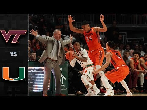 Virginia Tech vs. Miami Basketball Highlights (2017-18)