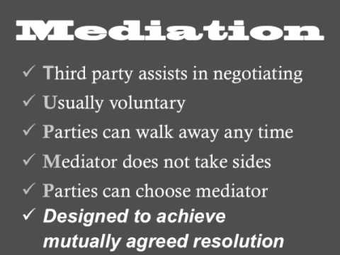 Mediation and arbitration are alternatives to traditional lawsuits and trials. There are benefits and many cases are perfect for mediation or arbitration. Often quicker and cheaper resolutions.