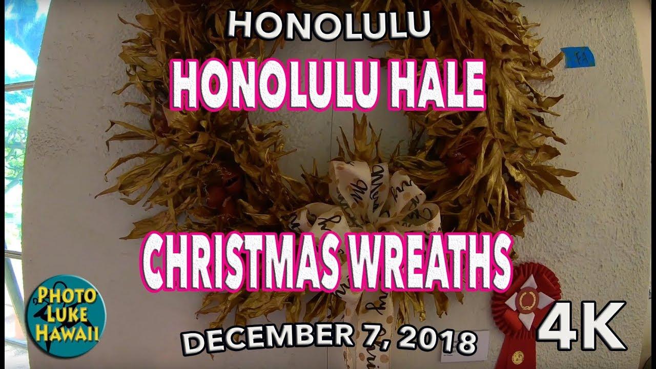 Honolulu Hale Christmas 2020 Honolulu Hale Christmas Wreaths 12/7/2018   YouTube