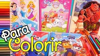 Desenhos para Colorir Moana, Patrulha Canina, Princesas Disney, Palace Pets -Brinquedonovelinhas
