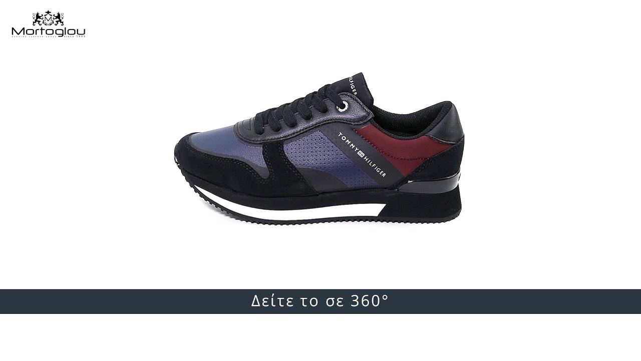 5471d37b4b2 Tommy Hilfiger Γυναικεία Παπούτσια Casual Active.City Μαύρο Δέρμα Καστόρι