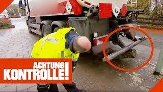 LKW Unfall im Wohngebiet - Tanklaster rammt Begrenzungen! | Achtung Kontrolle | kabel eins