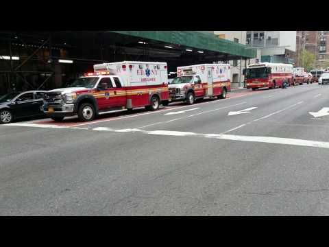 FDNY Escorts Firefighter William Tolley From The Medical Examiner's Office In NYC