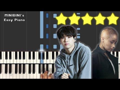 LeeSoRa (ft. BTS SUGA) - Song Request (신청곡) 《MINIBINI EASY PIANO ♪》 ★★★★★