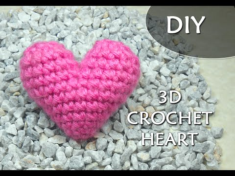 Crochet Pattern 3d Or Puffy Crochet Heart Patrones Valhalla Eng
