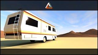 Breaking Bad camper Speedart // Lowpoly TEMPLATE Download