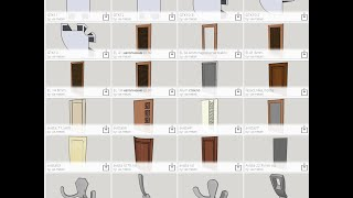 Мои компоненты для Sketchup мебель