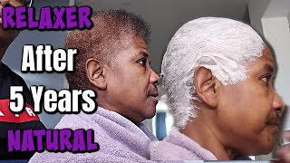 My Mom Gets A Relaxer After 5 Years Natural   She's Over It