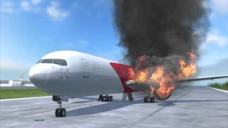 Florida plane fire: Dynamic Boeing 767 bursts into flames on the tarmac during takeoff