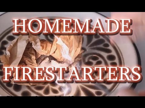 How to make firestarters with recycled cardboard and wax.