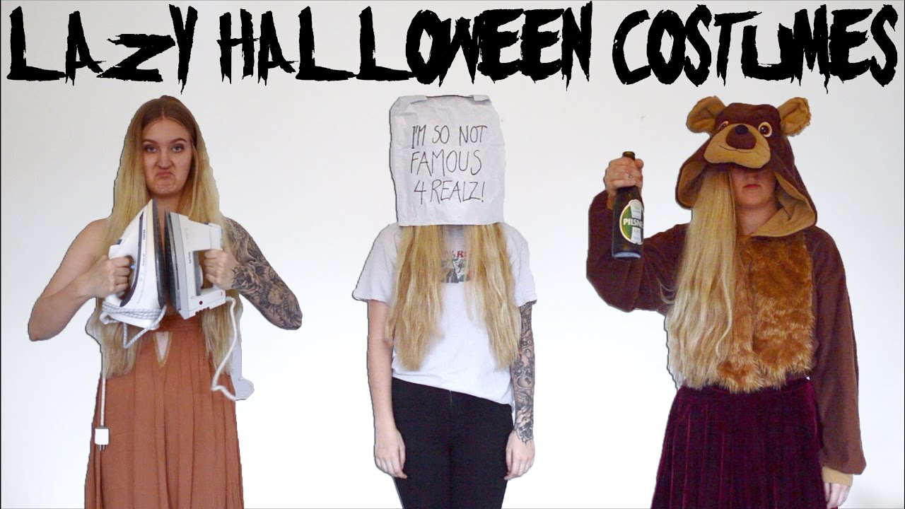 25 LAZY HALLOWEEN COSTUMES - YouTube