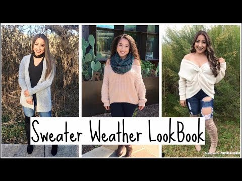 33f9a1bd02052 Sweater Weather Lookbook   2017 OUTFIT IDEAS - YouTube