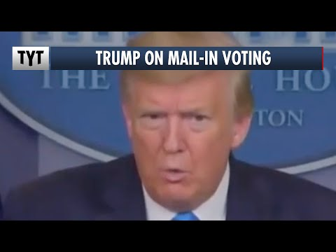 """Trump: Mail-In Voting Is """"Corrupt,"""" Except When I'm Doing It"""