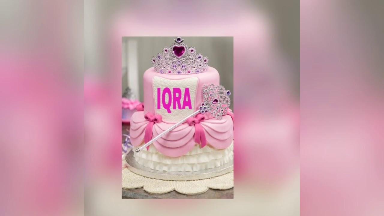 Happy Birthday Cake Iqra