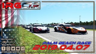 rFactor 2 – IRG Corvette Cup of America  – ROUND 3 - Palm Beach - LIVESTREAM