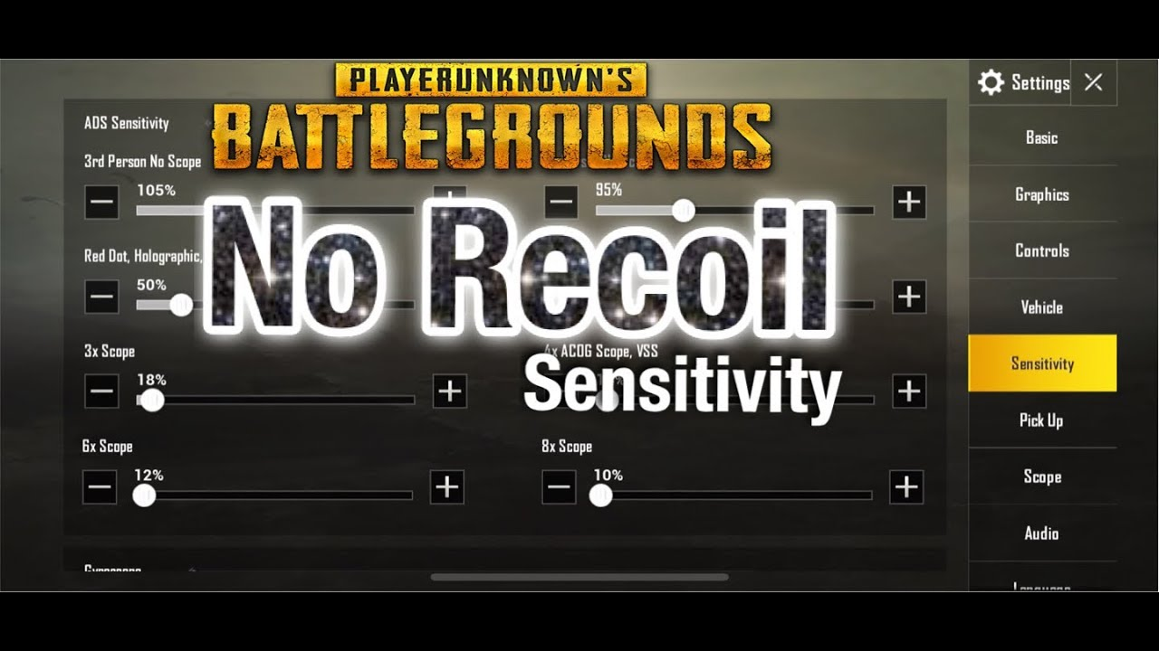 NO RECOIL | BEST SETTINGS AND SENSIVITY | PUBG MOBILE