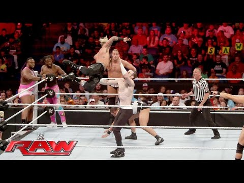 Thumbnail: The New Day & Enzo Amore & Big Cass vs. Gallows, Anderson & The Vaudevillains: Raw, June 13, 2016