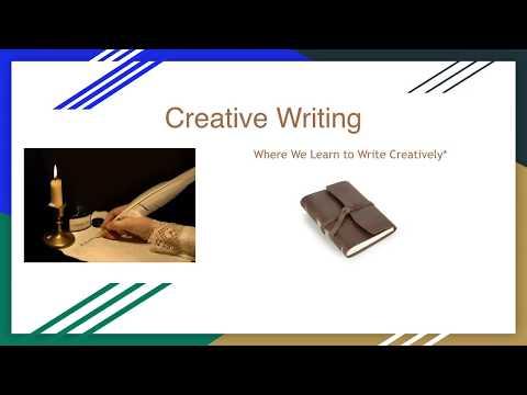 Creative Writing Course Description