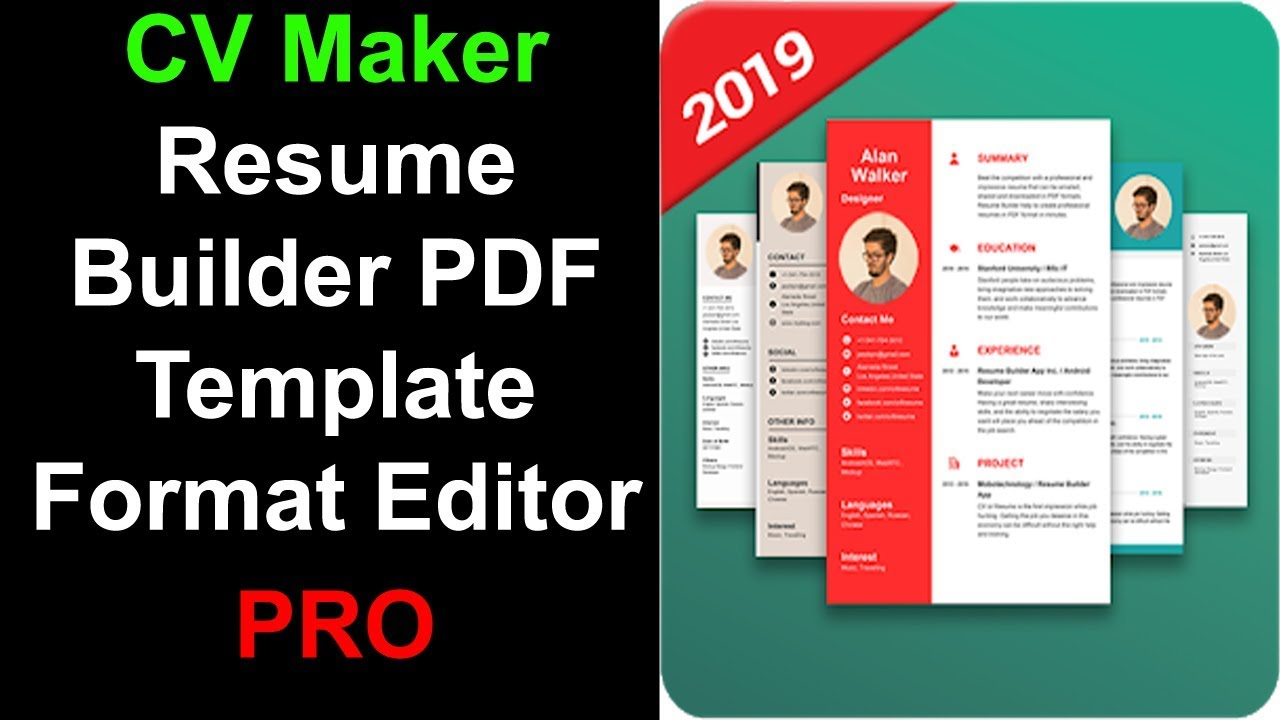 Cv Maker Resume Builder Pdf Template Format Editor Pro Free
