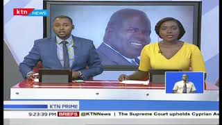 Homabay governor Cyprian Awiti survives the court challenge as he retain his seat