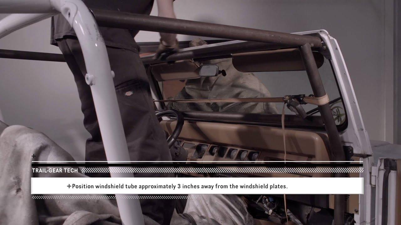 Trail Gear Tech Rock Defense Jeep Yj Roll Cage Install