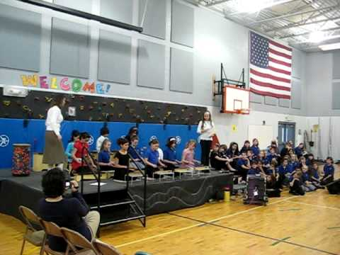 """Roosevelt Elementary School- Xylophone Ensemble Spring Concert  """"Clouds"""" 2009"""