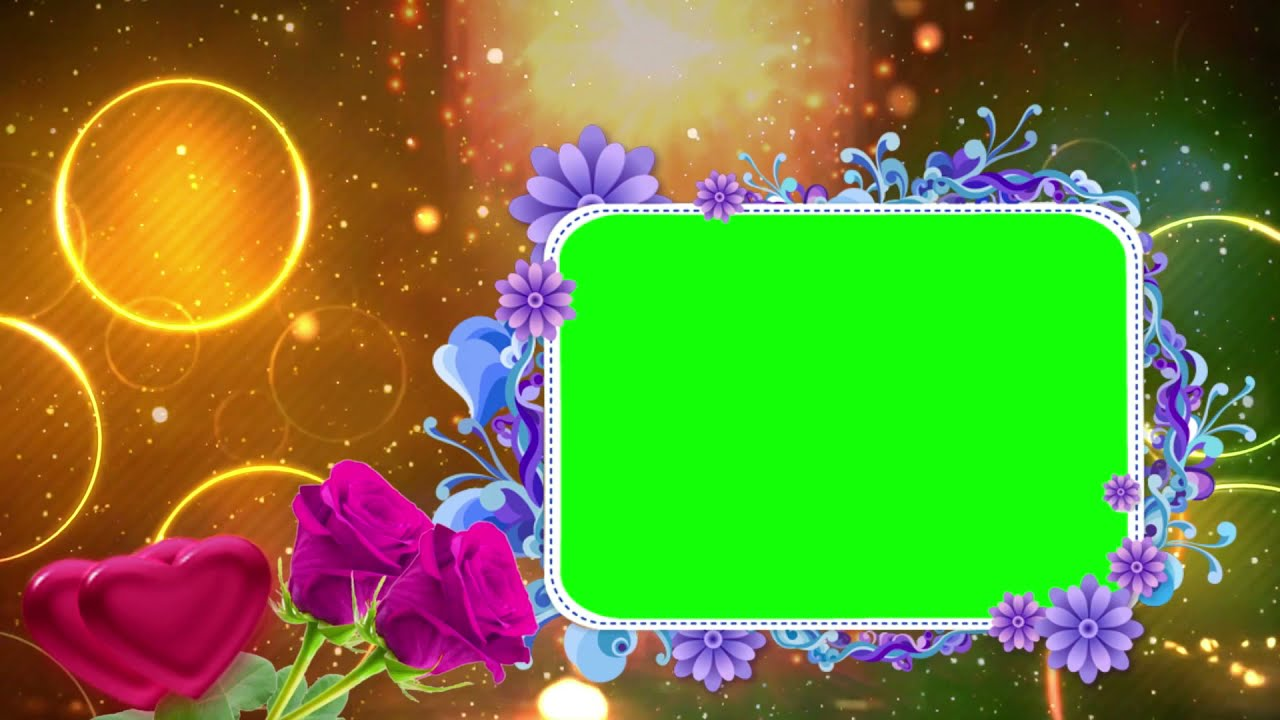 Free Wedding Frame Green Screen Background Effect Video HD