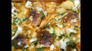 Вкуснейший ужин Картошка с тефтелями в духовке