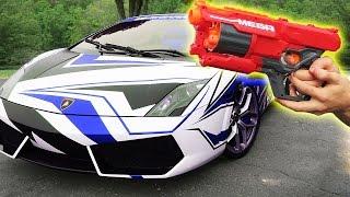 LAMBORGHINI VS NERF GUN!!