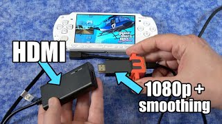 Ultimate PSP setup: HDMI + Upscaling & anti-aliasing to HDTV