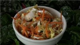 Cabbage Recipes : Napa Cabbage, Sesame And Ginger Salad