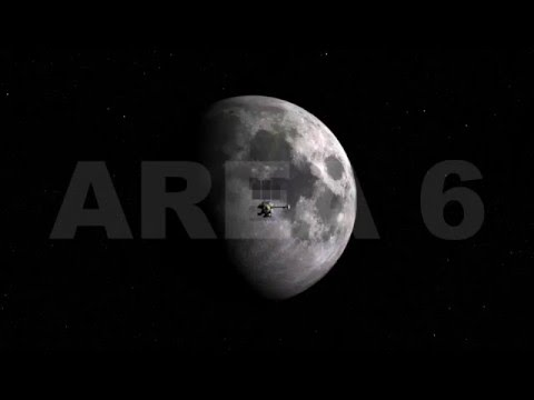 AREA 6 Spacecraft 4K Stock Footage Collection LRO Approaching Moon