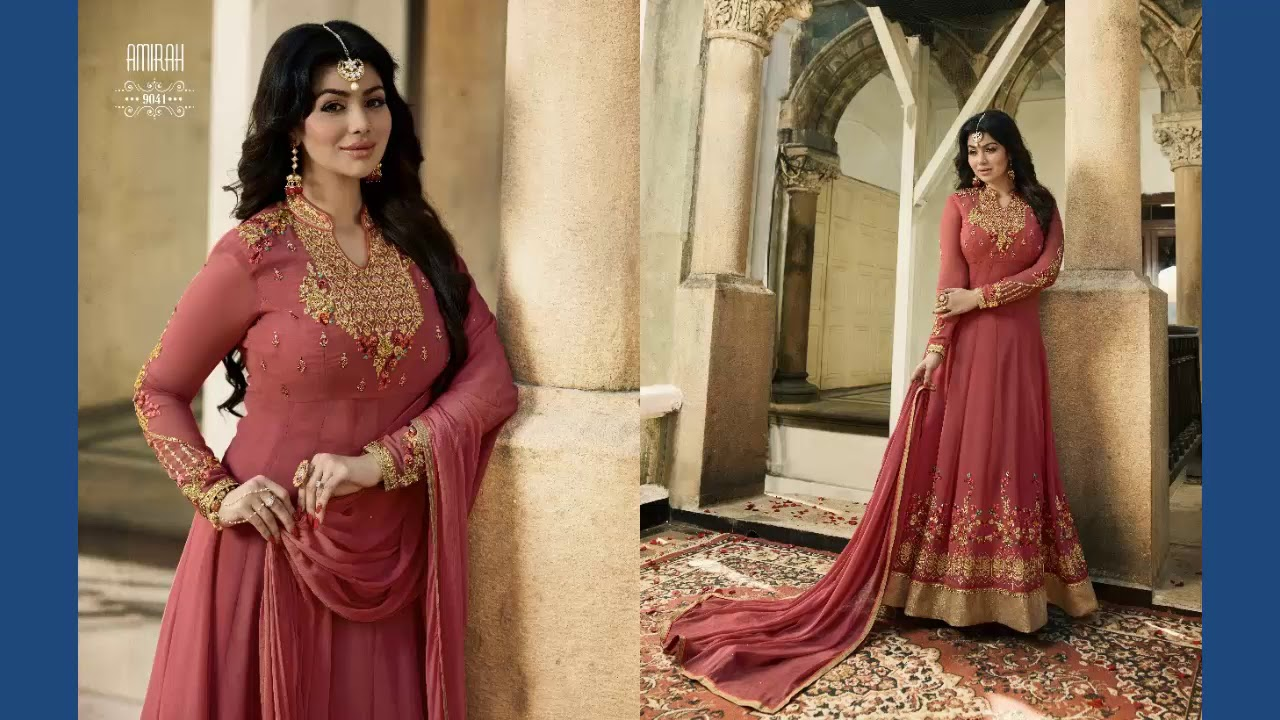 TOP BEAUTIFUL & STYLISH GOWN STYLE OPEN SHIRTS CASUAL WEAR &PARTY ...