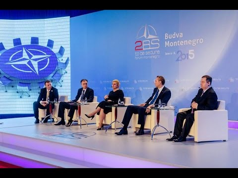 2BS Forum 2015: Keynote speakers - Mr. Vujanović, Mrs. Grabar-Kitarović, Mr. Krivokapić, Mr. Dačić