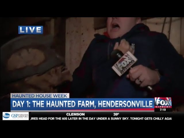 "The Haunted Farm 2018 | Thomas ""The Butcher"" Tate meets Joe Gagnon on Fox Carolina News LIVE"
