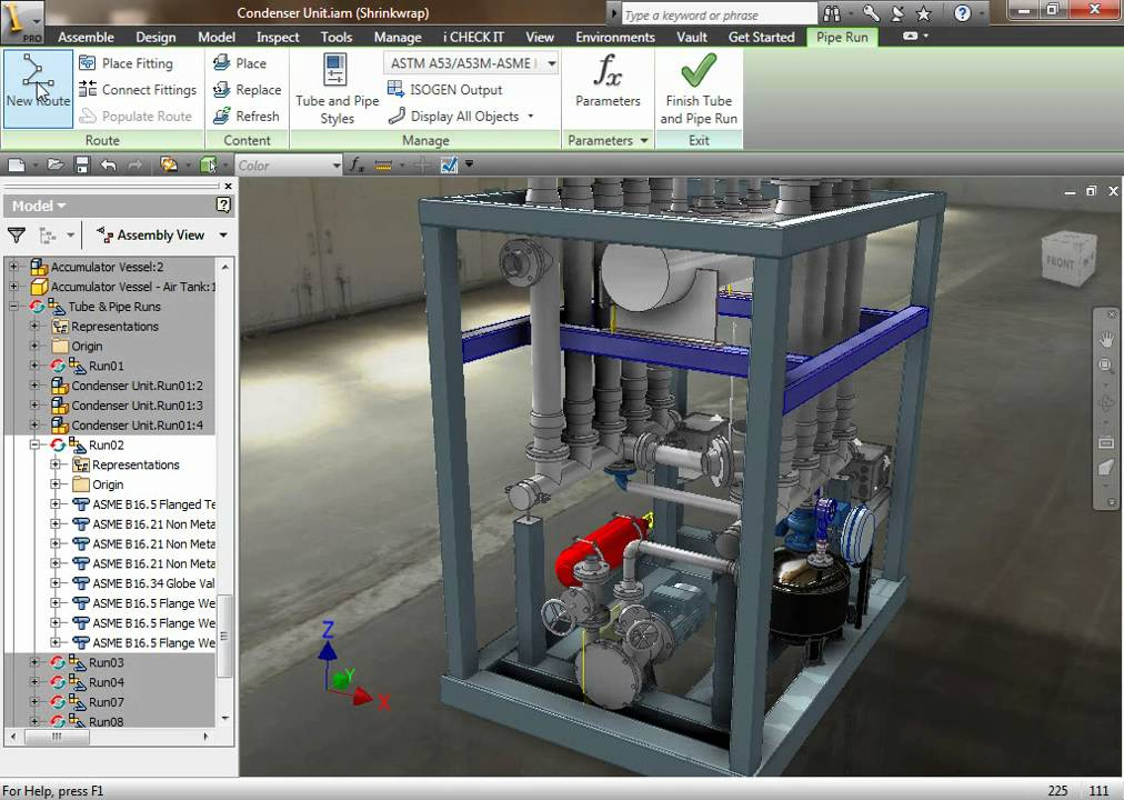 Autodesk Inventor Professional 2011 Tubing Amp Piping