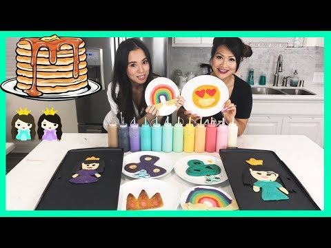 PANCAKE ART CHALLENGE! Learn How To Make Fidget Spinner & Emoji with Princess ToysReview