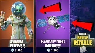 """RUST BUCKET"" *NEW* ""LEVIATHAN"" SKIN & ""PLANETARY PROBE"" GLIDER (Fortnite Battle Royale Live)"