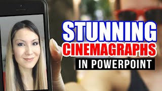 Stunning CINEMAGRAPHS in PowerPoint (Tutorial) - How to Make Animated GIFs