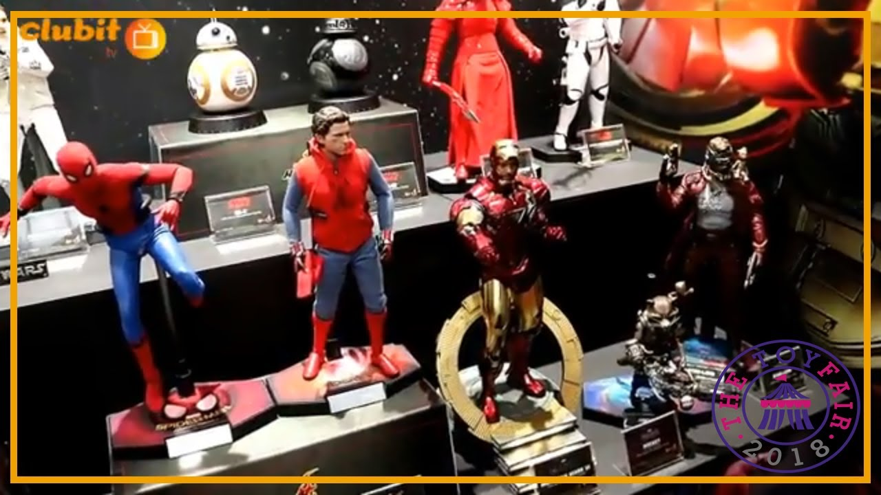 Amazing Hot Toys Figures on Display at Toy Fair 2018 - YouTube