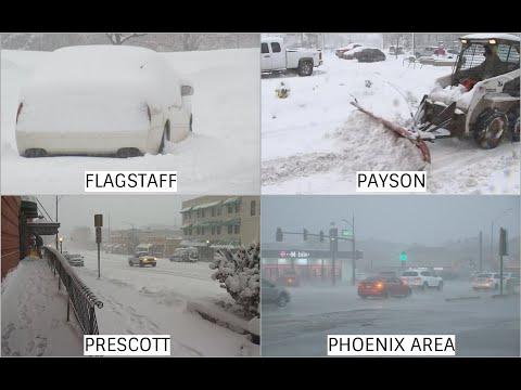 Relentless snow in Flagstaff, Payson and Prescott