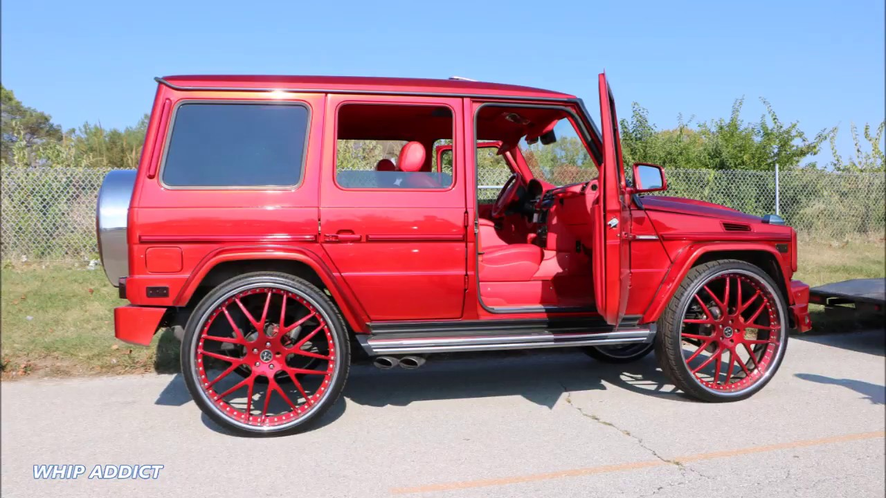 whipaddict: bloody red mercedes-benz g wagon on vellano vkk 30s
