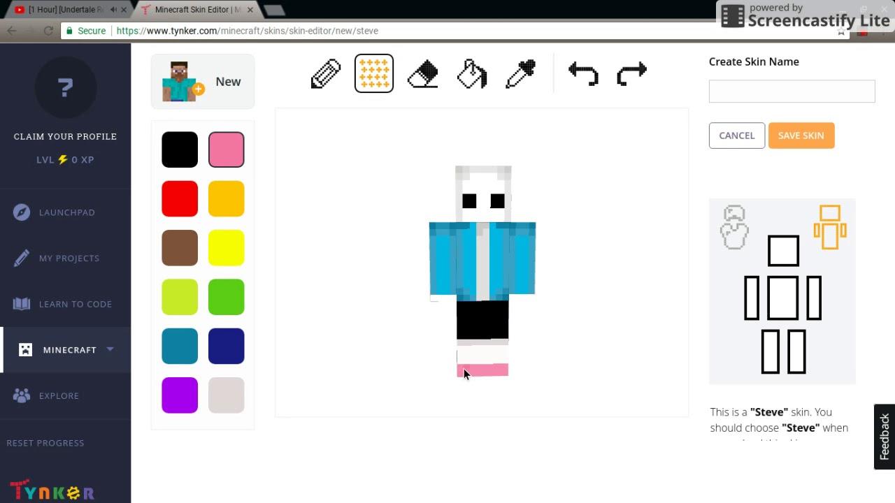 Sans Minecraft Skin YouTube - Skin para minecraft pe de sans