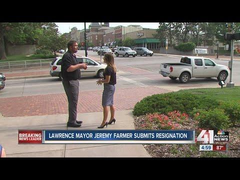 Lawrence Mayor Jeremy Farmer submits resignation
