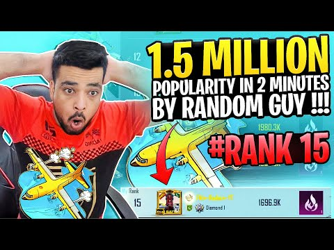 1.5 MILLION POPULARITY IN JUST 2 MINS BY A RANDOM GUY - PUBG MOBILE - FM RADIO GAMING