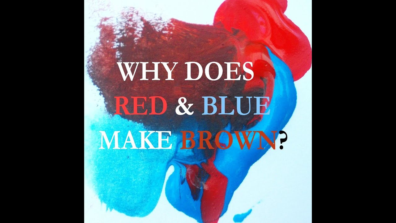 Why Red And Blue Make Brown Color Wheel Myth Dispelled