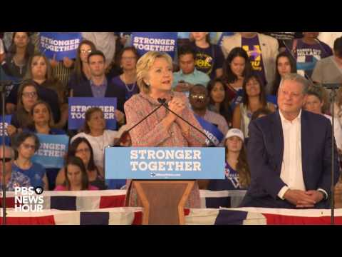 Hillary Clinton, Al Gore deliver speech on climate change