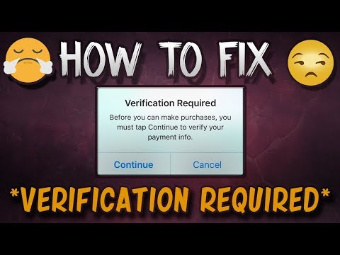 How To Fix Verification Required In App Store *2017*